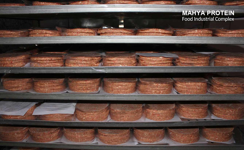 Hamburger production line
