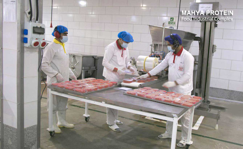 Layout of produced hamburgers